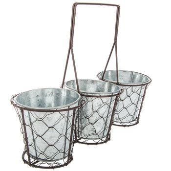 chicken wire bucket planter