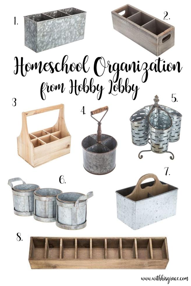 Homeschool Organization from Hobby Lobby