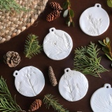 Clay Nature Print Ornaments