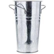 silver iron vase