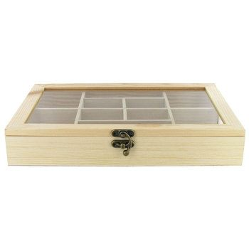 wood shadow box with glass top